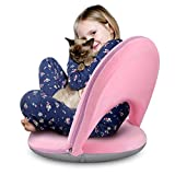 Floor Chair Seating Nnewvante Meditation Chair with Adjustable Back Support Foldable Floor seat Folding Padded Legless Chair for Adults Kids Video Gaming Reading Watching in Living room/Classroom Pink