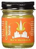 MJ's Herbals Calendula Salve | Skin Soothing Balm, Eczema Cream, Diaper Rash, Scar Treatment, Bug Bite Itch Relief | Organic Calendula, Propolis Beeswax (4 oz)