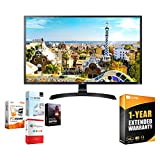 LG 32UD59-B 32-inch 3840x2160 Ultra HD 4k LED Monitor with FreeSync Bundle with Elite Suite 18 Standard Editing Software Bundle and 1 Year Extended Warranty