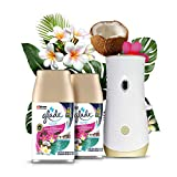 Glade Automatic Spray Refill and Holder Kit, Air Freshener for Home and Bathroom, Tropical Blossoms, 6.2 Oz, 2 Count