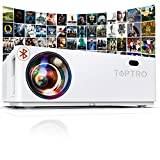 """TOPTRO Bluetooth Projector, Native 1080P and 350"""" Display, 7200L Video Projector, Support 4K, Zoom & ±50°4D Keystone Correction, Home Theater Projector Compatible with Phone/TV Stick/PC/USB/PS4/DVD"""