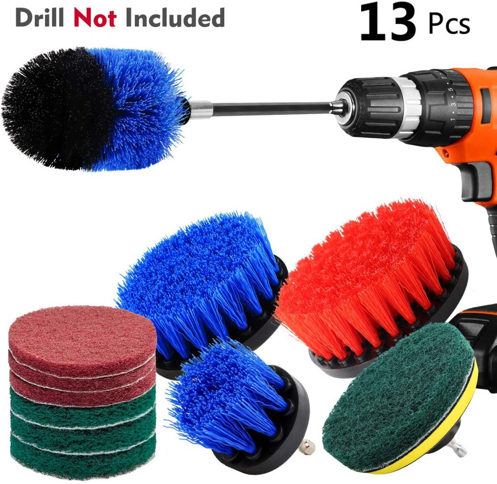 Knguvth 13 piece drill brush attachments set