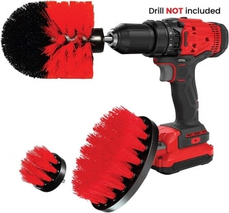 Cleanzoid drill brush set