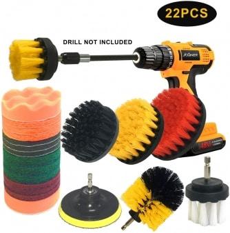 Joqineeer 22 piece drill brush set