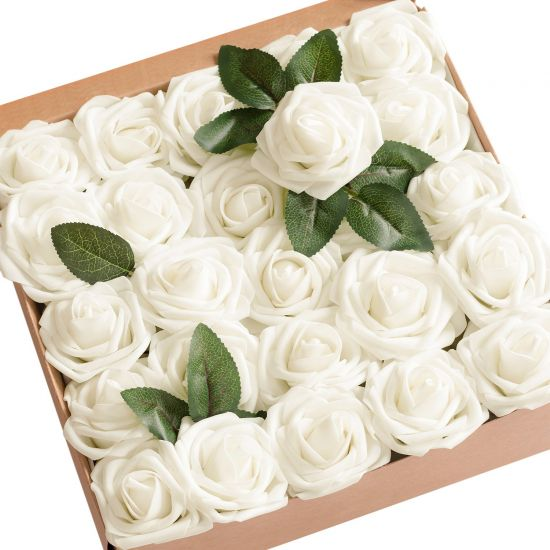 Ivory-Roses-Artificial-Flowers