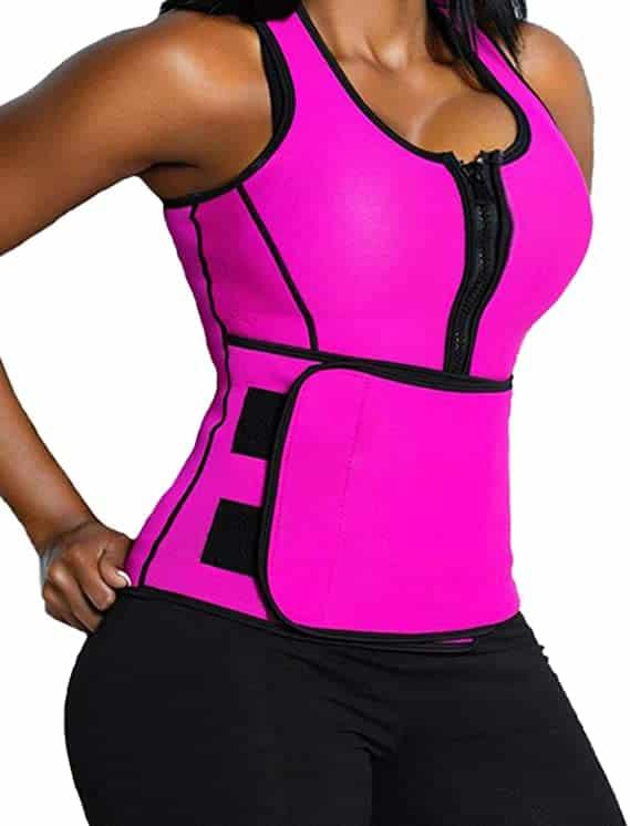 Lelinta Sweat Vest for Women Neoprene Sauna Suit Tank Top Vest with Adjustable Shaper Trainer Belt