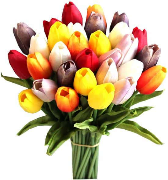 Mandy's 30 pcs multicolour 14 inch Artificial Tulips Flowers for wedding party home decorations