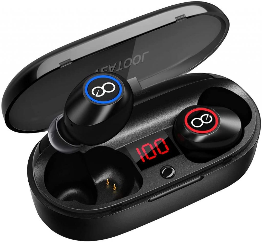 Veatool 5.0 Bluetooth Headphones Binaural Call True Wireless Earbuds 20H Playtime HD Stereo Bass Earphones with Built in Mic