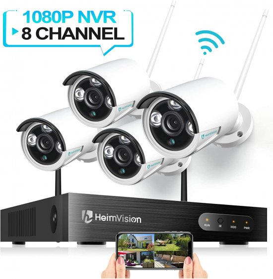 HeimVision HM241 Wireless Security Camera System 8CH 1080P 4Pcs 960P Outdoor Indoor Wifi Surveillance Cameras