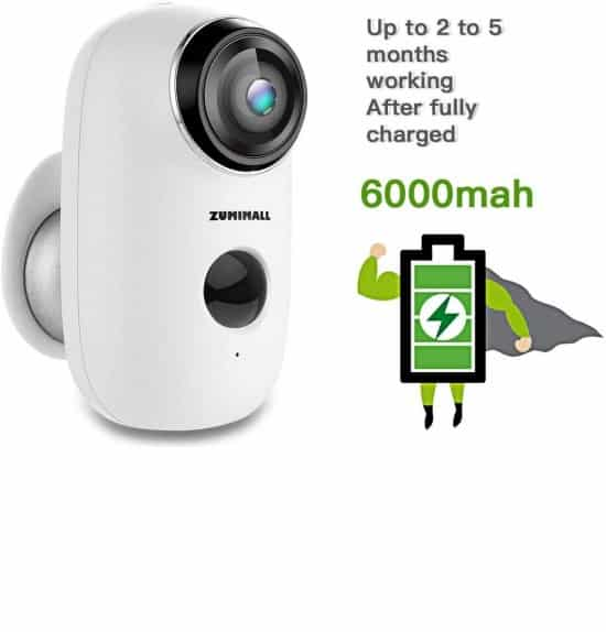 Wireless Rechargeable Battery Powered WiFi Camera, Home Security Camera,