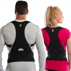 Agon® Thoracic Back Brace Posture Corrector - Magnetic Support for Back Neck Shoulder Upper Back Pain Relief Perfect Product for Cervical Spine Fully Adjustable with Magnets (LargeX-Large)