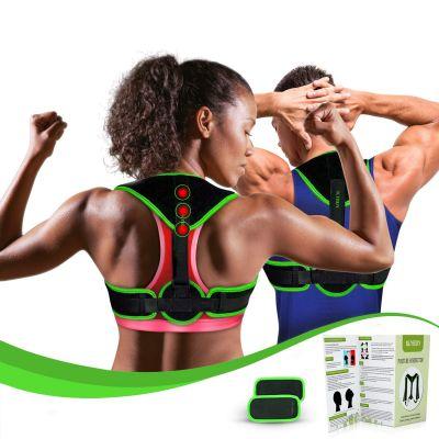 Clavicle Brace Neck Hump Corrector, Posture Corrector for Women Men, Magnetic Upper Back Brace Support, Upright Posture Trainer, Back Straightener