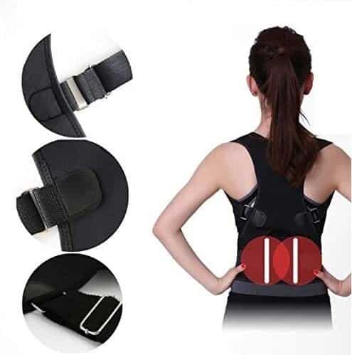 "Fully Adjustable Magnetic Back Brace Posture Corrector with Lumbar Support Belt - Best Straightener Trainer Improves Posture, Lower and Upper Back Pain for Women & Men (Magnet, XS Waist 25"" - 33"")"