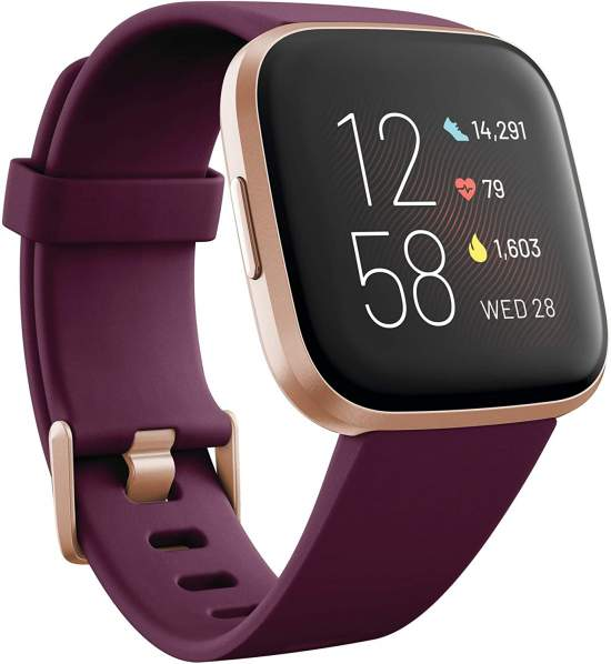 Fitbit Versa 2 Health and Fitness Smartwatch with Heart Rate, Music, Alexa Built-In, Sleep and Swim Tracking,