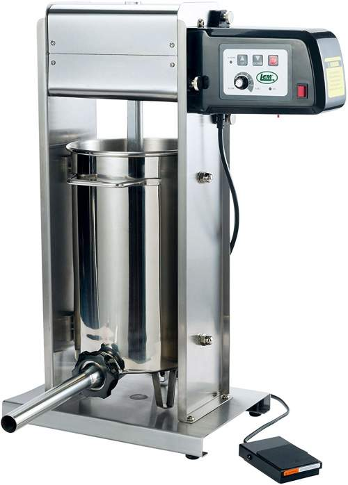 LEM-Products-1219-20-Pound-Motorized-Sausage-Stuffer-w4-Stuffing-Tubes-Stainless-Steel