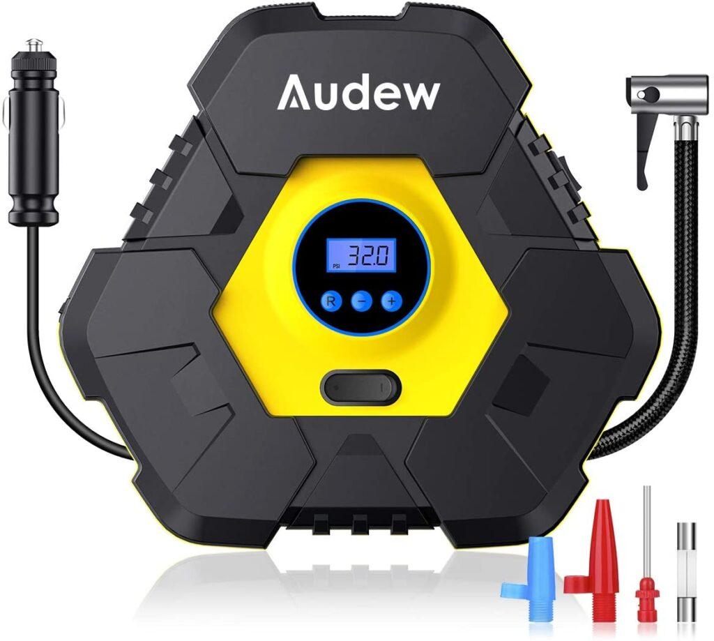 Audew Upgraded Portable Air Compressor Tire Inflator,12V