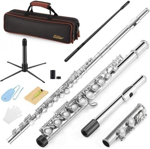 Eastar EFL-1 Closed Hole C Flutes 16 Key Nickel Musical Instrument