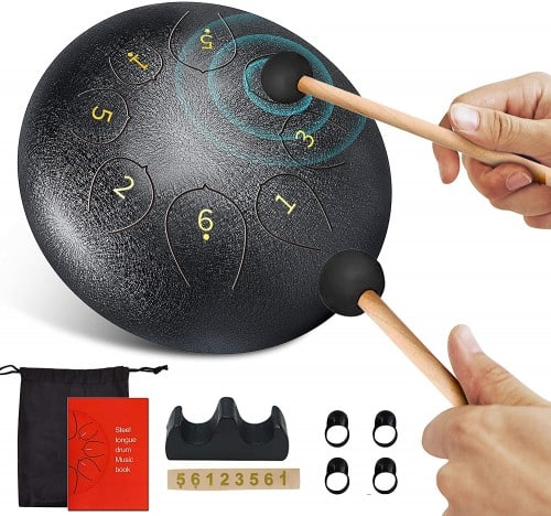 Steel-Tongue-Drum-8-Notes-6-inch-C-Key-Handpan-Drums