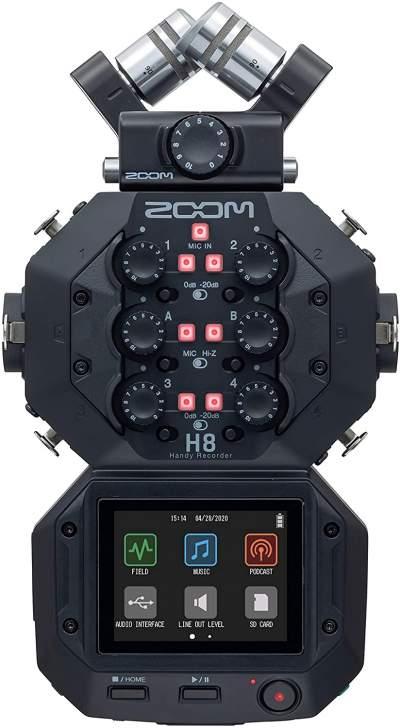 Zoom H8 12-Track Portable Recorder,