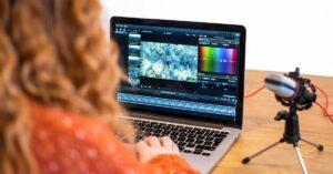 video editing girl
